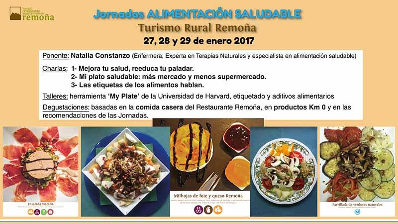 Fin de semana de alimentación saludable con Turismo Rural Remoña