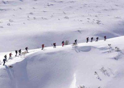 Raquetada nieve Picos de Europa