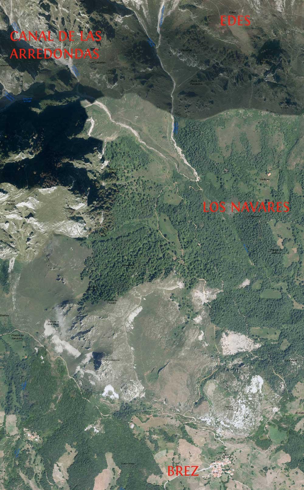 Ruta-Hayedo-de-Edes-vista-satelite