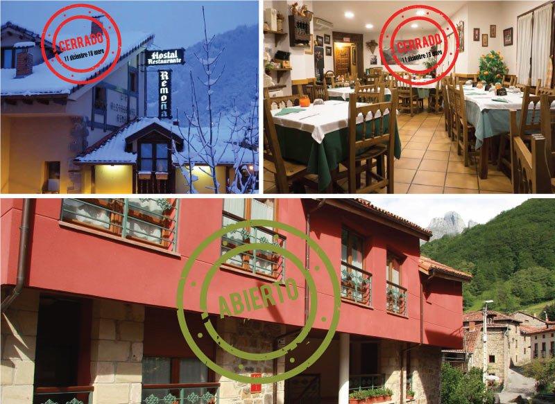 Hostal y Restaurante Remoña cerrados por vacaciones hasta 18 de enero