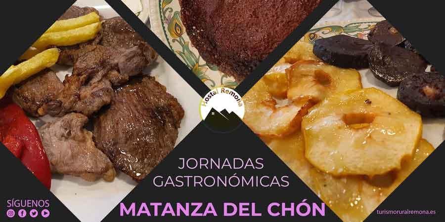 cartel jornadas gastronomicas matanza del chon en liébana