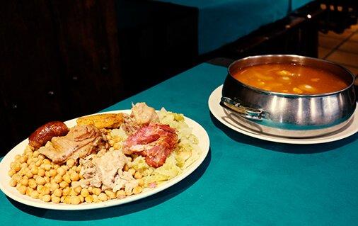 Cocido lebaniego - Mesón el Castellano